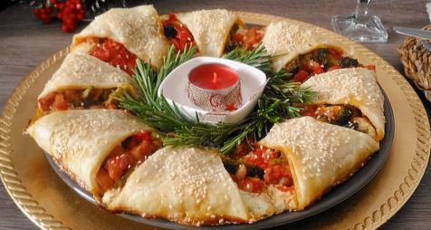Kerstkrans pizza